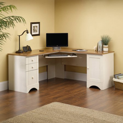 New -Sauder Harbor View Corner Computer Desk
