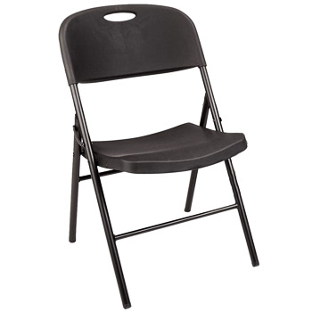 AmazonBasics Folding Plastic Chair 350 Pound Capacity Black