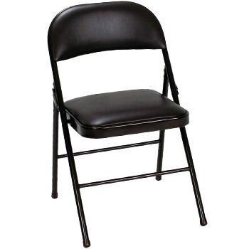 Cosco Vinyl Folding Chair Black