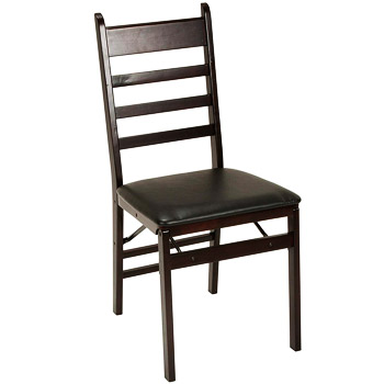 Cosco Wood Folding Chair with vinyl seat & Ladder Back
