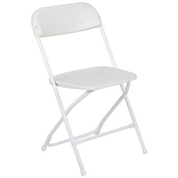 Flash Furniture Hercules Series Premium Plastic Folding Chair White