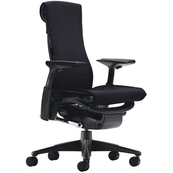 Herman Miller Embody Chair Fully Adjustable Arms Graphite FrameBase