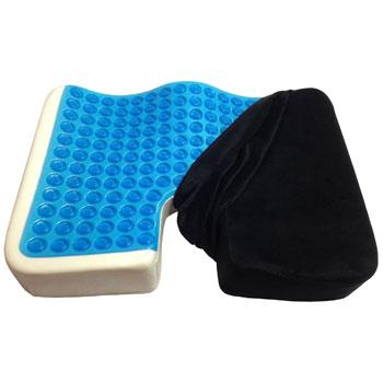 Kieba Coccyx Seat Cushion Cool Gel Memory Foam-Large Orthopedic Tailbone Pillow