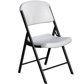 Lifetime 42804 Commercial Grade Folding Chair White