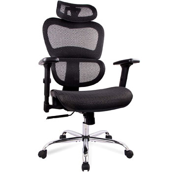 SMUGDESK 1388 Ergonomic Office Chair Mesh High Back and Adjustable Headrest