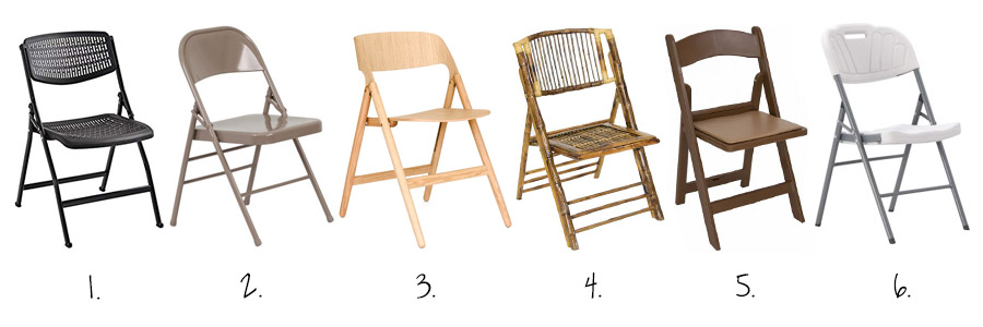 folding chair material types shema