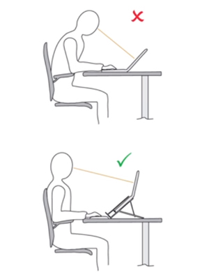 correct laptop height and angle